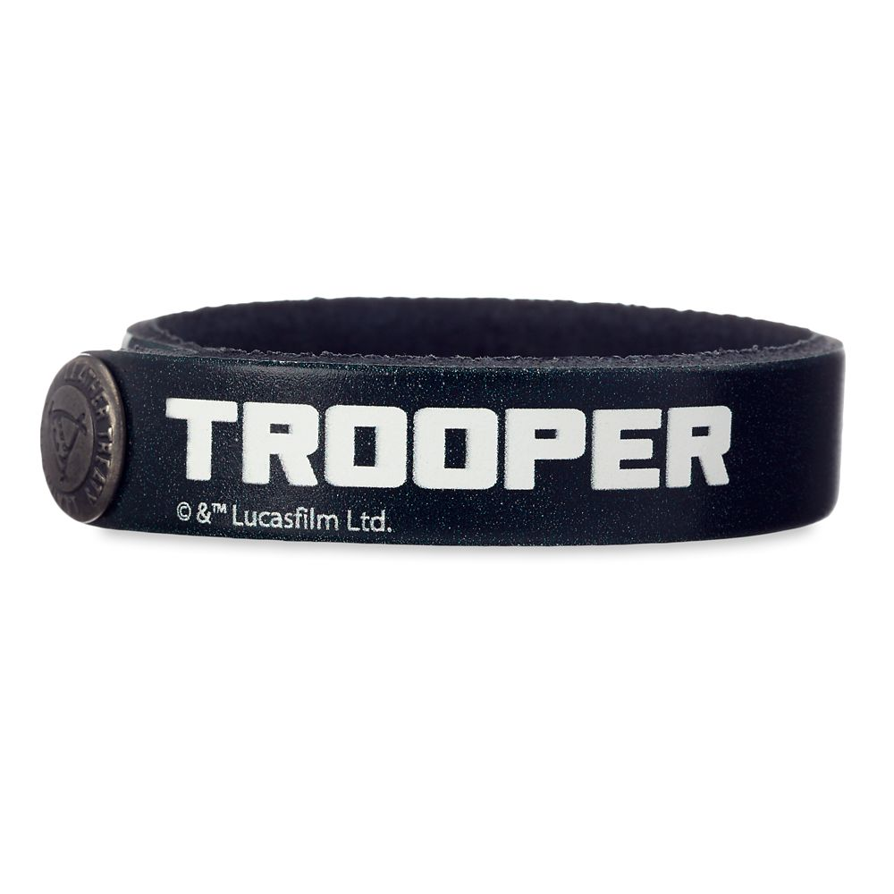 Stormtrooper Leather Bracelet – Star Wars – Personalizable