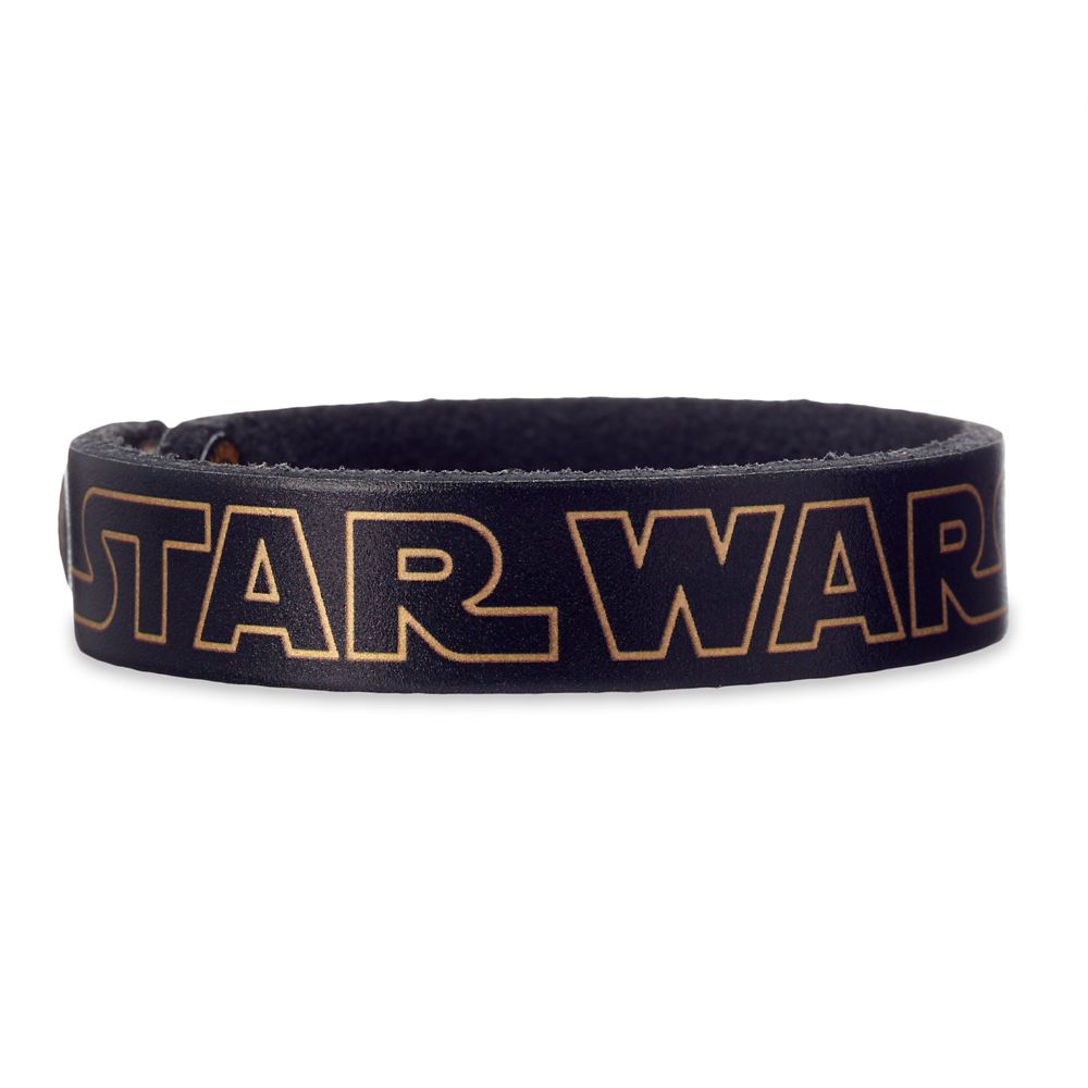 Star Wars Logo Leather Bracelet – Personalizable