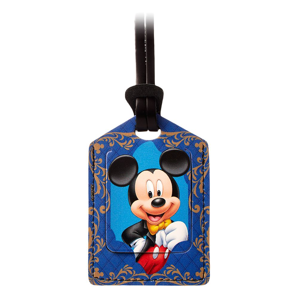 Mickey Mouse Leather Luggage Tag  Personalizable Official shopDisney