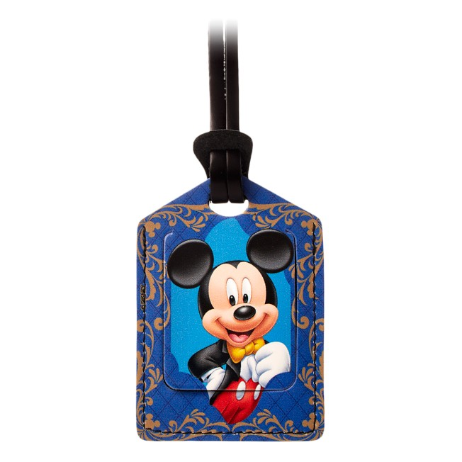 Mickey Mouse Leather Luggage Tag – Personalizable
