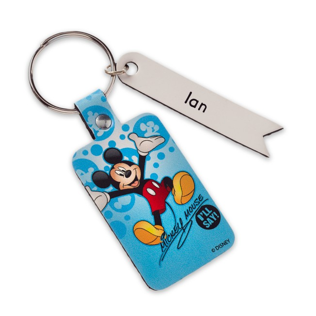 Mickey Mouse Signature Leather Keychain – Personalizable