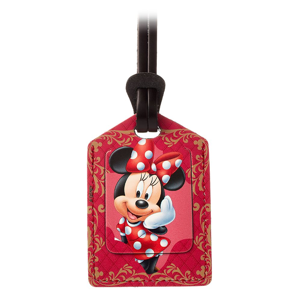 Minnie Mouse Leather Luggage Tag  Personalizable Official shopDisney