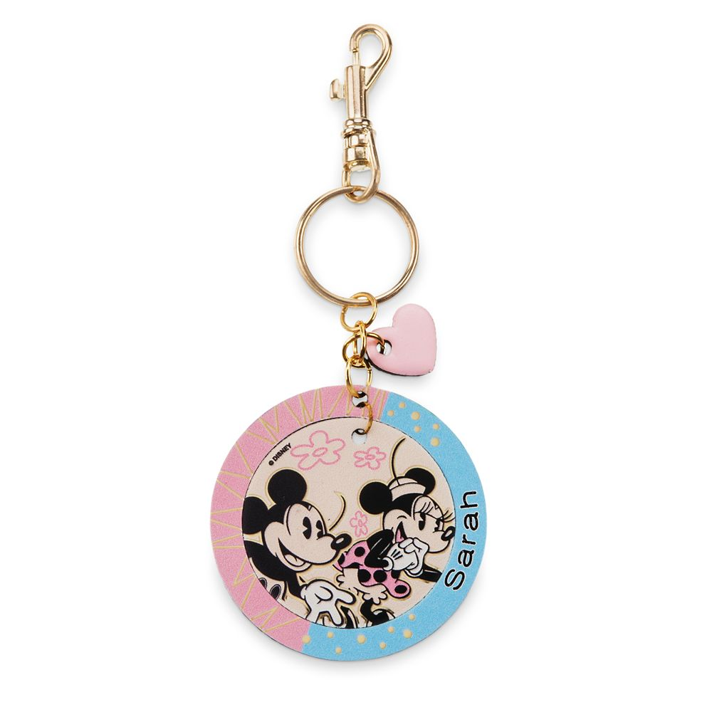Mickey & Minnie Leather Keychain – Personalizable