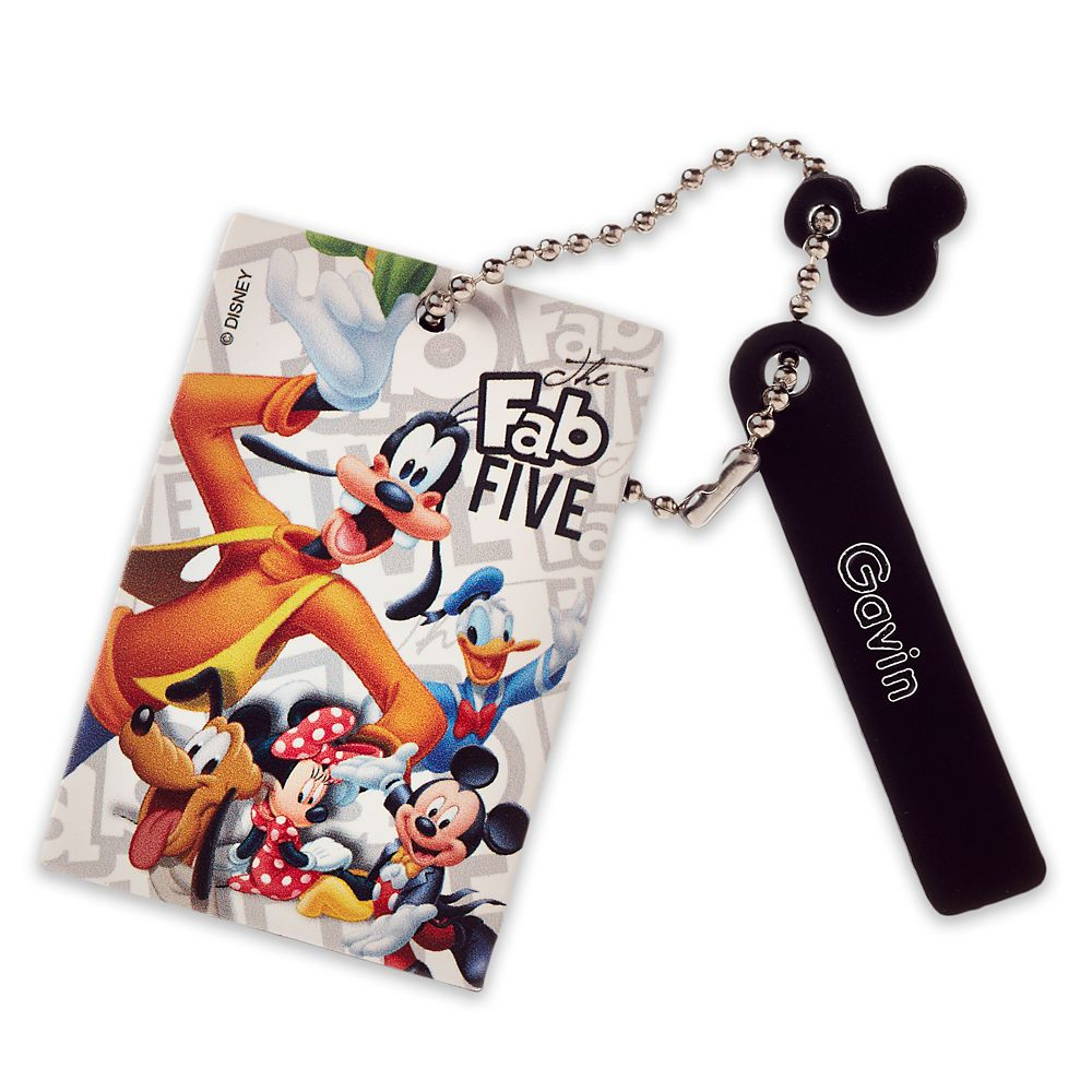 Mickey Mouse and Friends Leather Bag Tag  Personalizable Official shopDisney