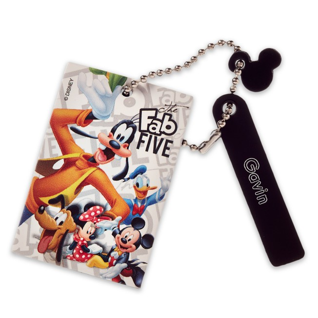 Mickey Mouse and Friends Leather Bag Tag – Personalizable
