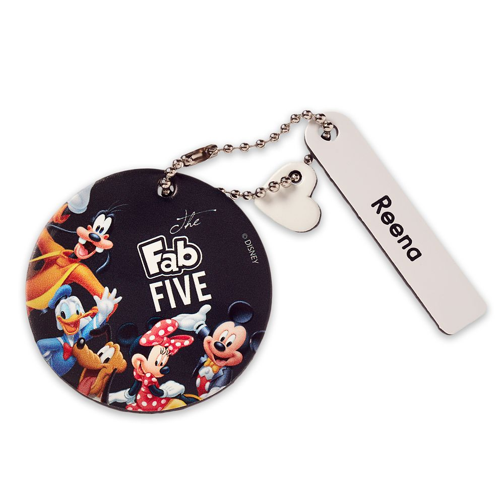 Mickey Mouse and Friends Round Leather Bag Tag – Personalizable