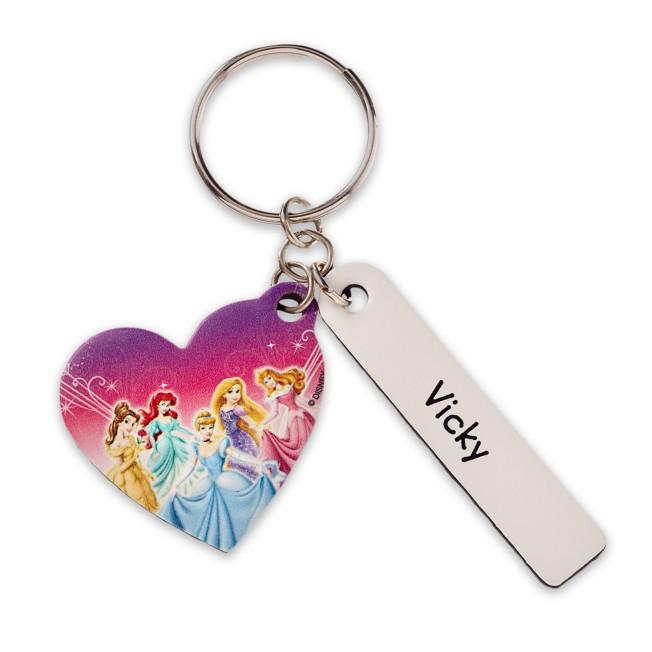 Disney Princess Heart Leather Keychain – Personalizable