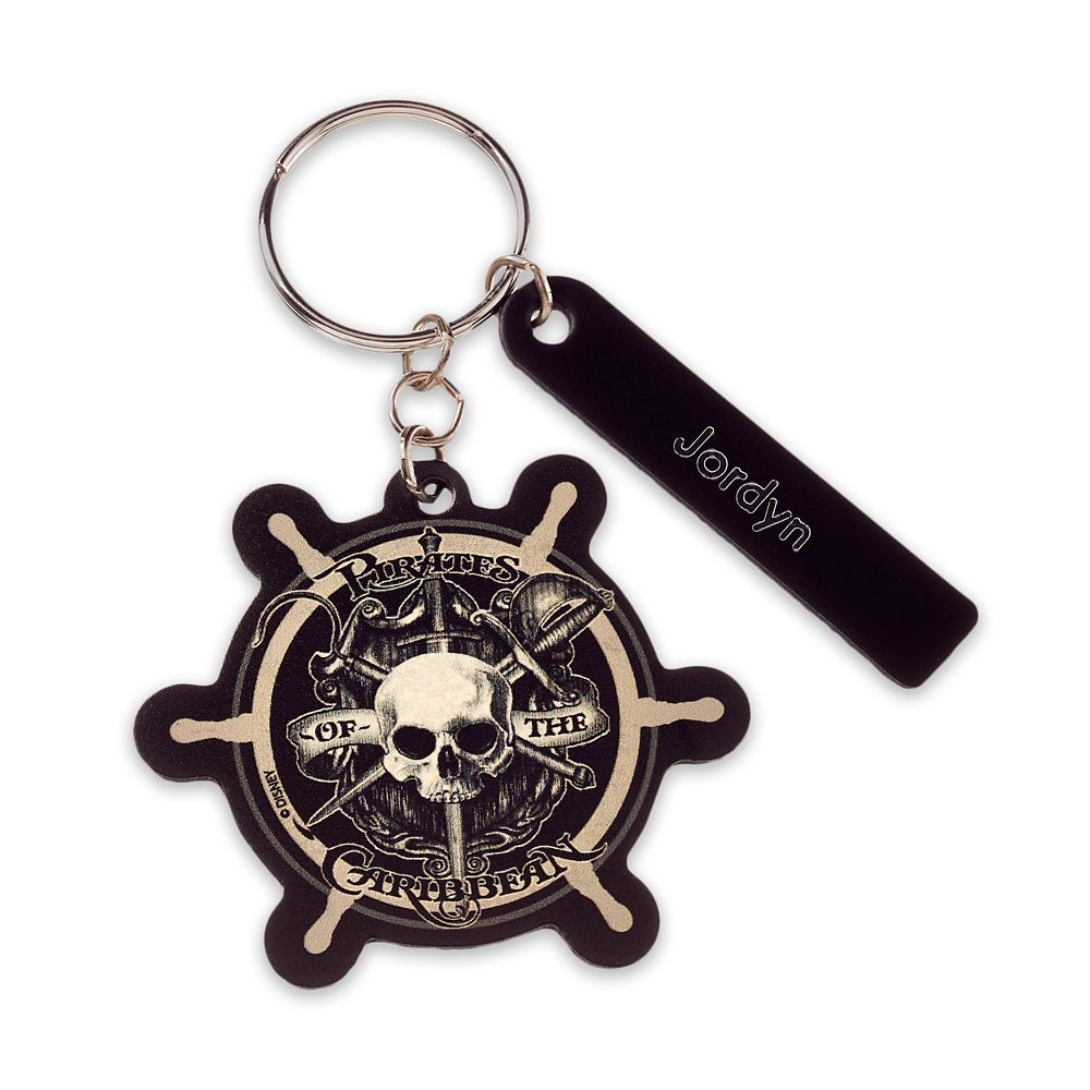 Pirates of the Caribbean Ship's Wheel Leather Keychain – Personalizable