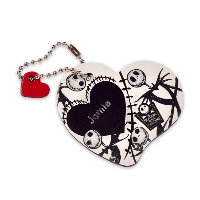 Jack Skellington Leather Luggage Tag – Personalizable