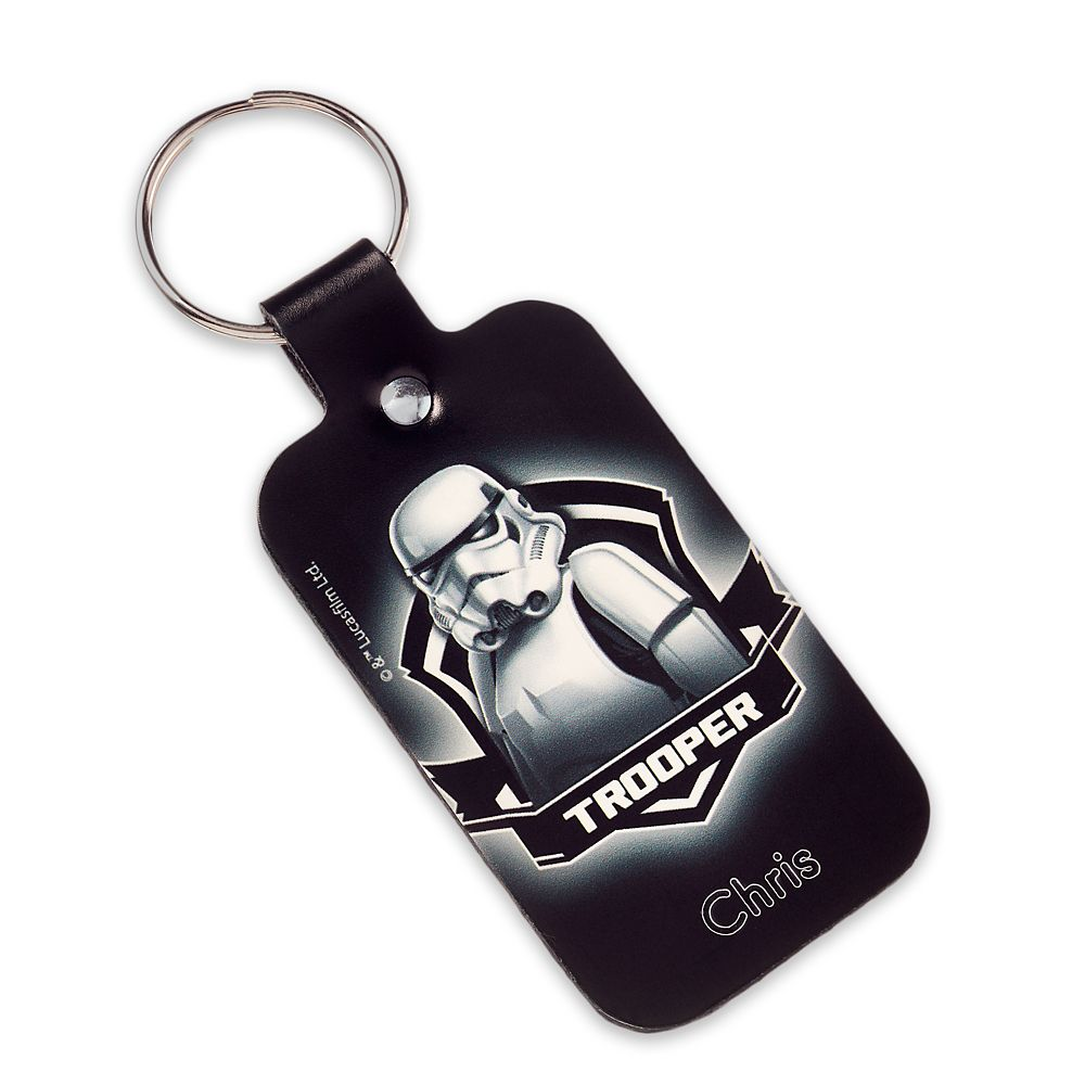 Stormtrooper Leather Keychain – Star Wars – Personalizable
