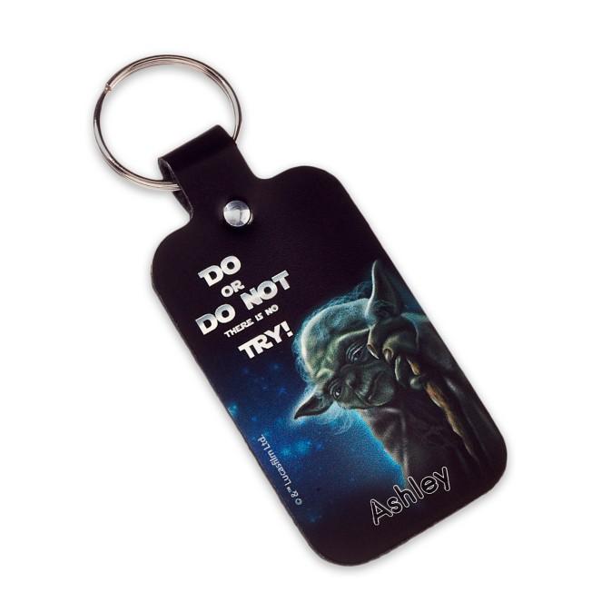 Yoda Leather Keychain – Star Wars – Personalizable