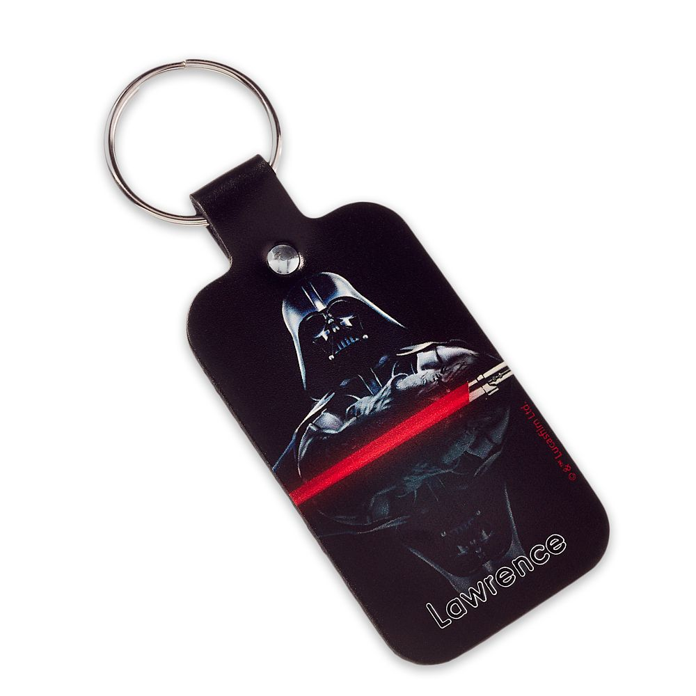Darth Vader Leather Keychain – Star Wars – Personalizable