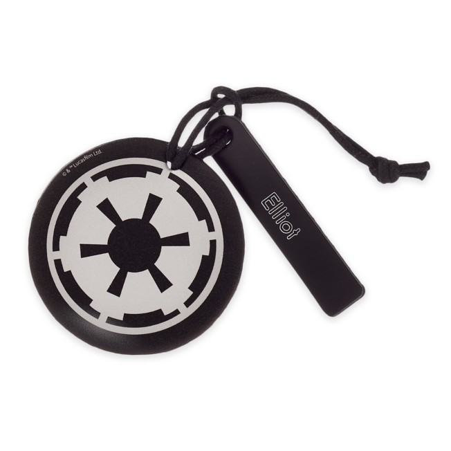 Star Wars Imperial Symbol Leather Luggage Tag – Personalizable