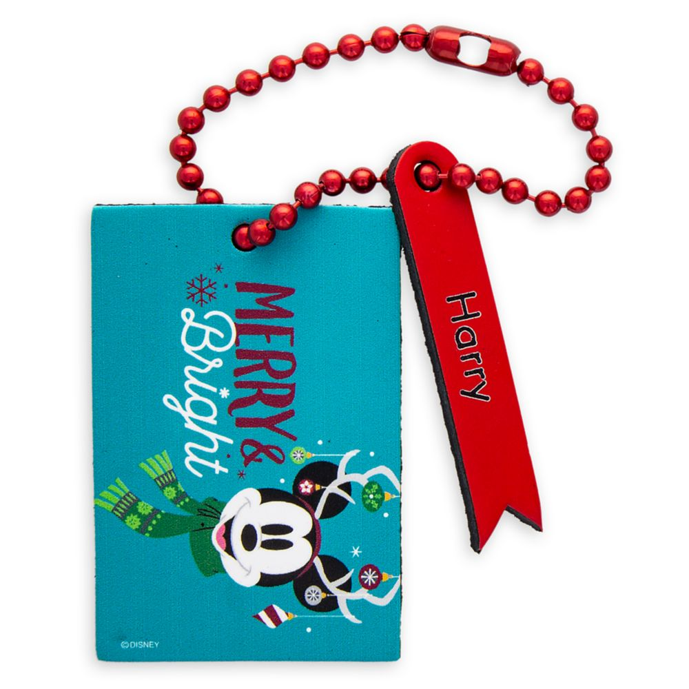 Mickey Mouse ''Merry & Bright'' Luggage Tag – Personalizable