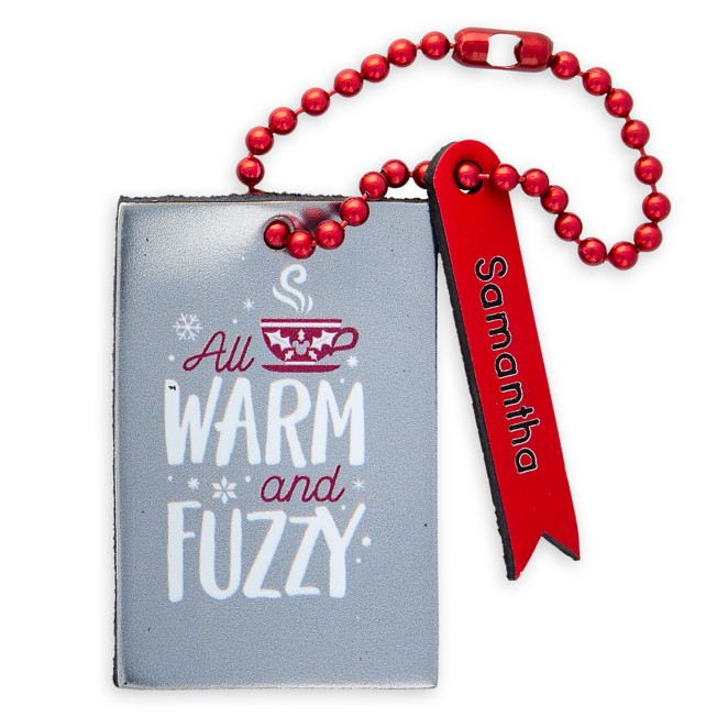Mickey Mouse ''All Warm and Fuzzy'' Leather Luggage Tag – Personalizable