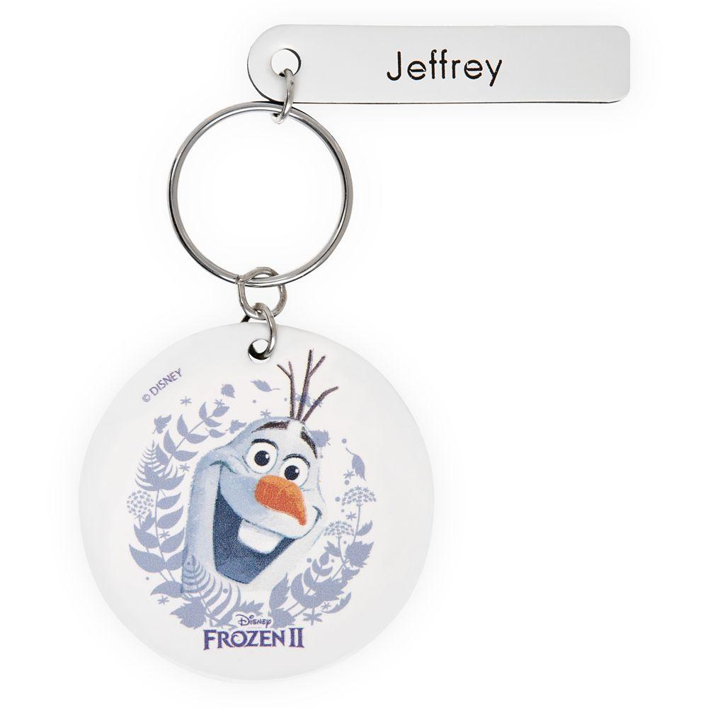 Olaf Keychain by Leather Treaty – Frozen 2 – Personalized