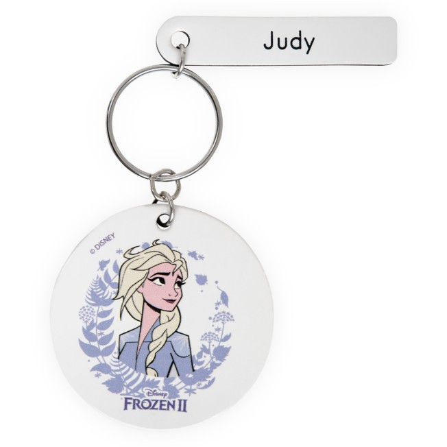 Elsa Keychain by Leather Treaty – Frozen 2 – Personalized