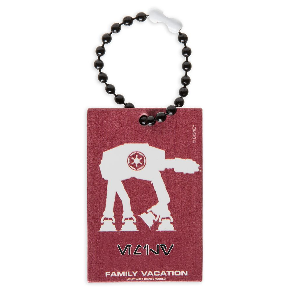 AT-AT Family Vacation Bag Tag by Leather Treaty  Walt Disney World  Customized