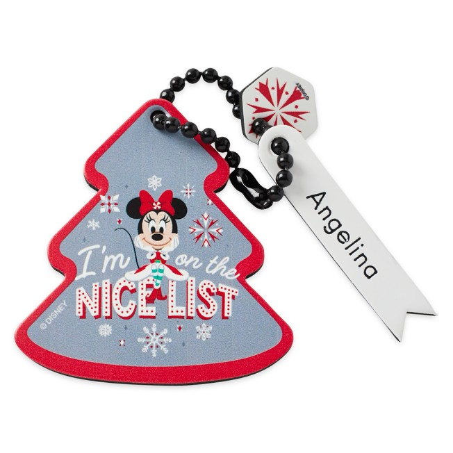 Minnie Mouse Tree Bag Tag by Leather Treaty – Personalized