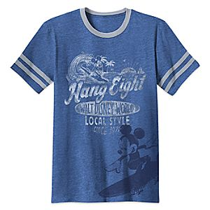Mickey Mouse ''Hang Eight'' T-Shirt for Adults - Walt Disney World - Limited Release