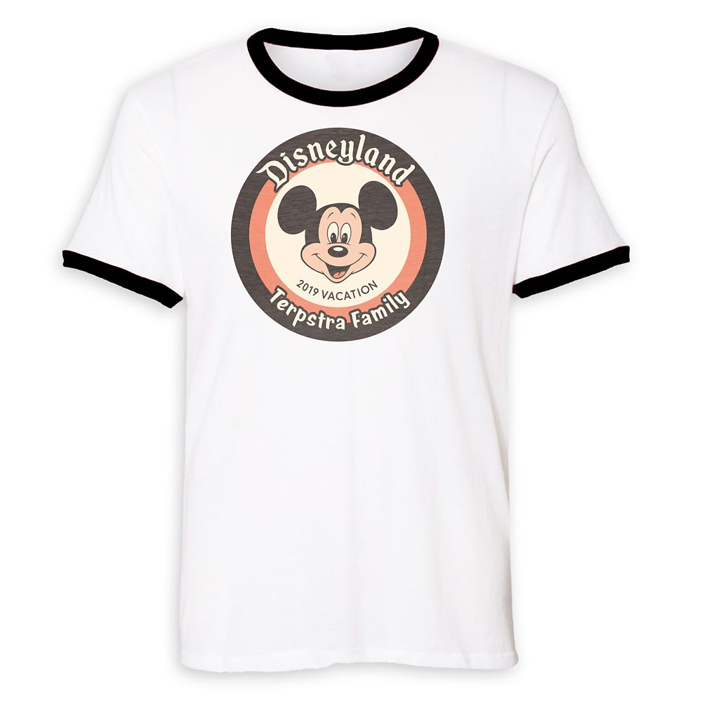 Mickey Mouse Family Vacation Ringer T-Shirt for Men  Disneyland 2019  Customized