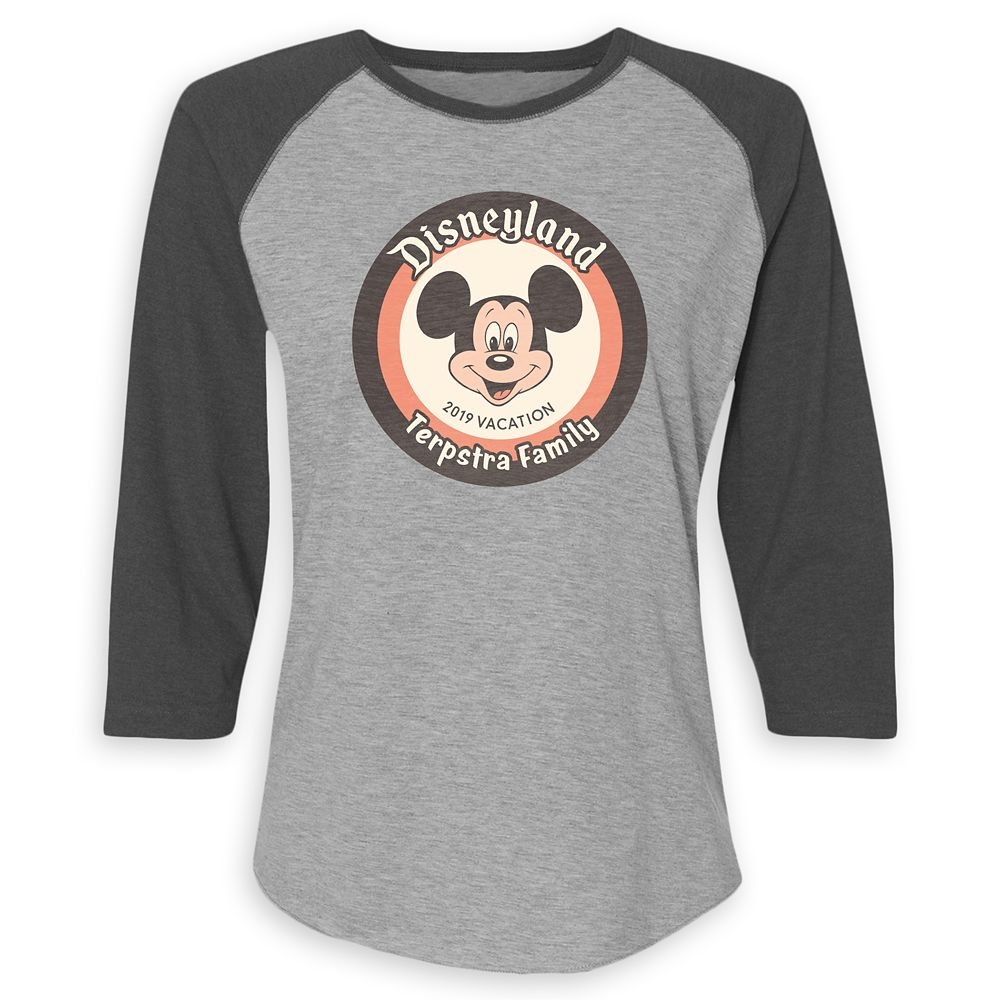 Mickey Mouse Family Vacation Raglan Shirt for Women  Disneyland 2019  Customized