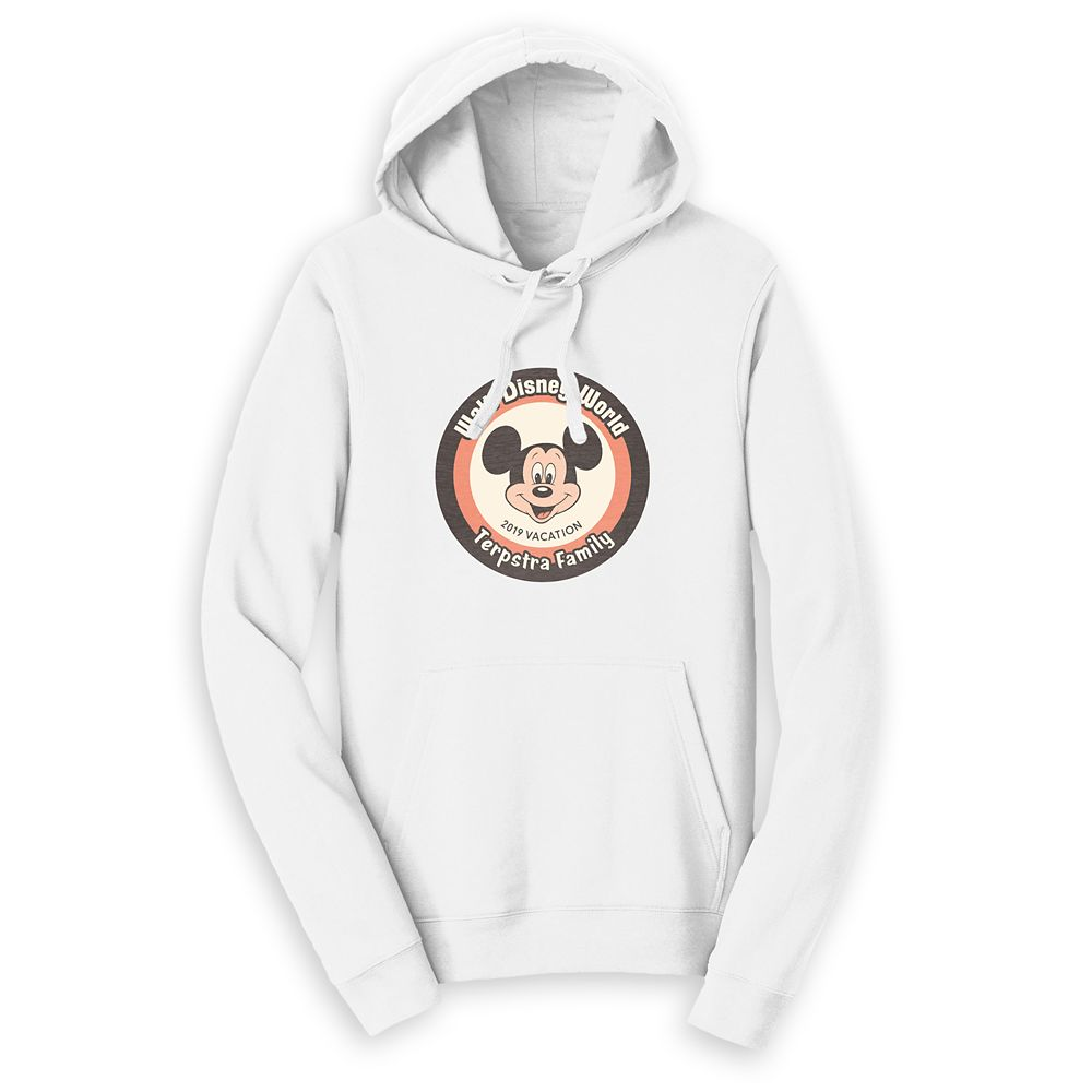 Mickey Mouse Family Vacation Pullover Hoodie for Adults – Walt Disney World 2019 – Customized