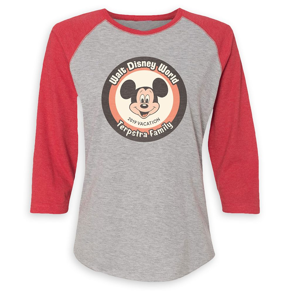 Mickey Mouse Family Vacation Raglan Shirt for Women – Walt Disney World 2019 – Customized