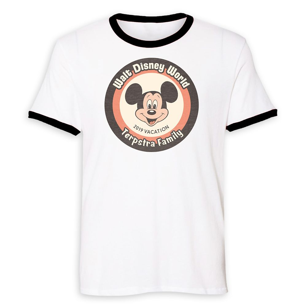 Mickey Mouse Family Vacation Ringer T-Shirt for Men – Walt Disney World 2019 – Customized