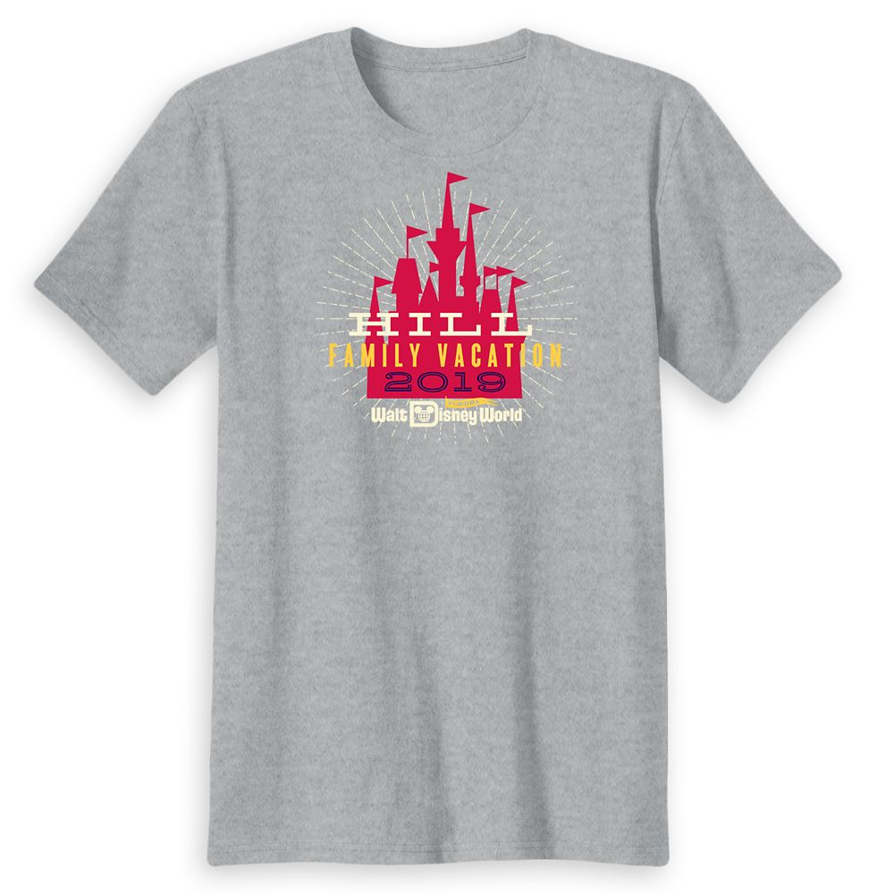 Adults' Cinderella Castle Family Vacation T-Shirt  Walt Disney World  2019  Customized