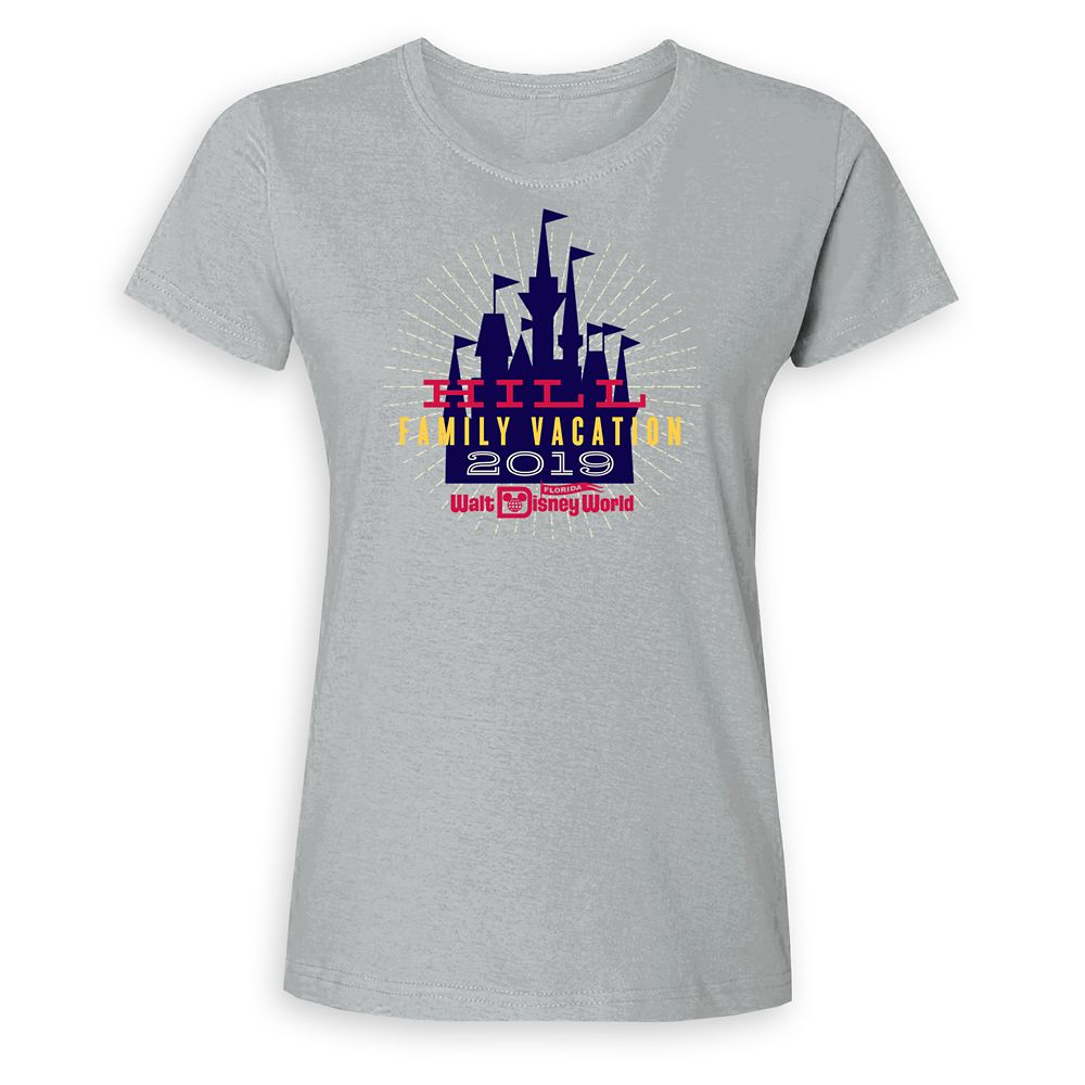 Women's Cinderella Castle Family Vacation T-Shirt  Walt Disney World  2019  Customized
