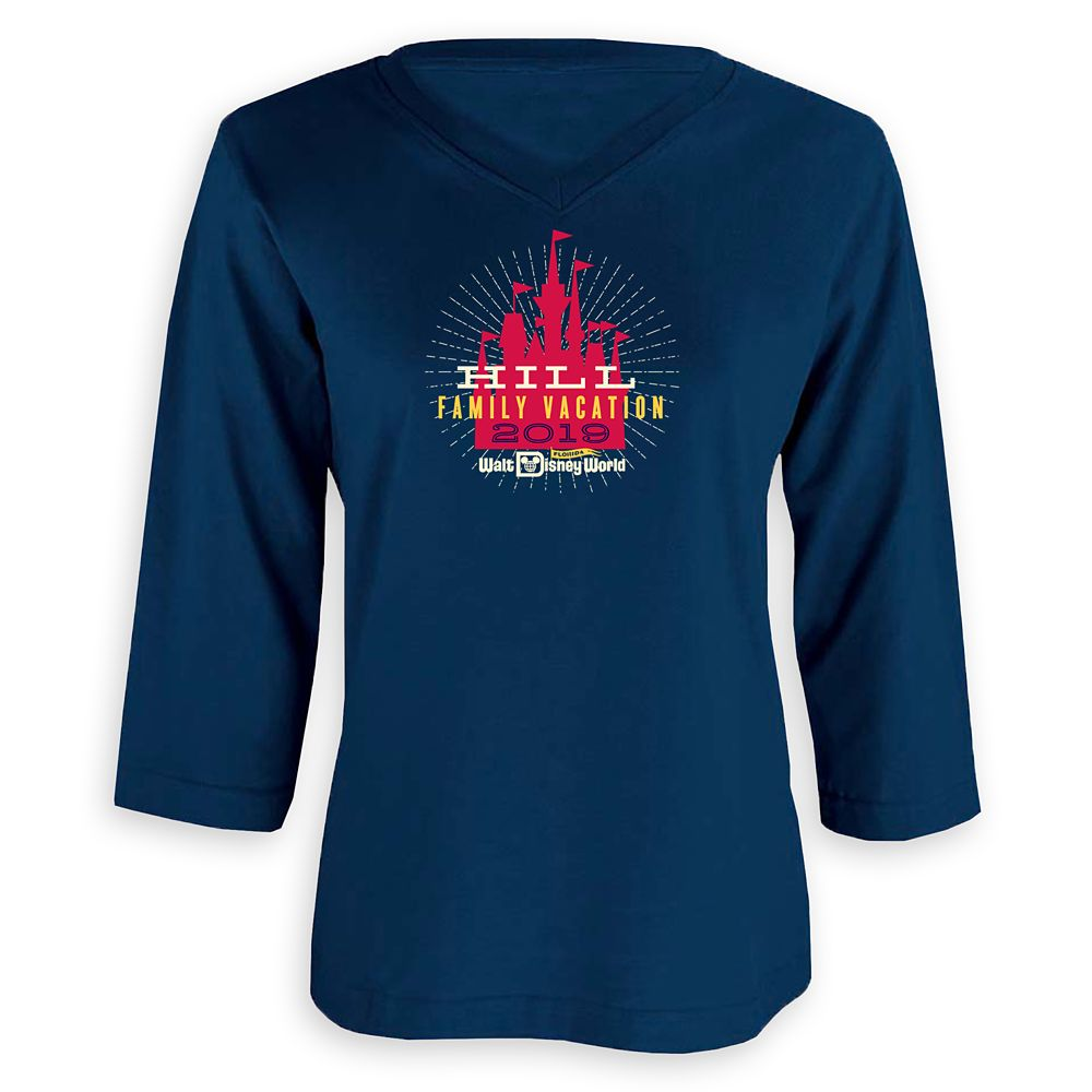 Women's Cinderella Castle Family Vacation  3/4 Sleeve Shirt – Walt Disney World – 2019 – Customized