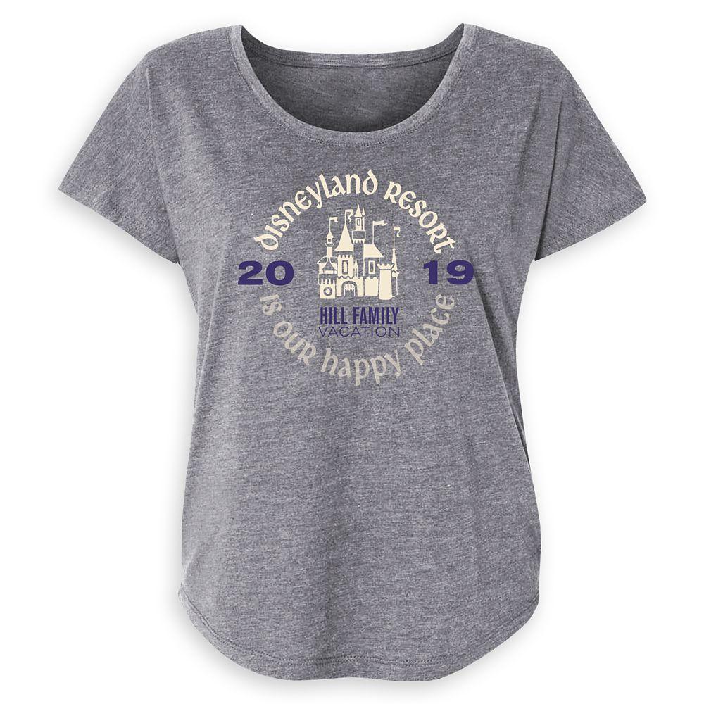 Women's ''Disneyland Resort Is Our Happy Place'' Family Vacation T-Shirt  Disneyland Resort  2019  Customized