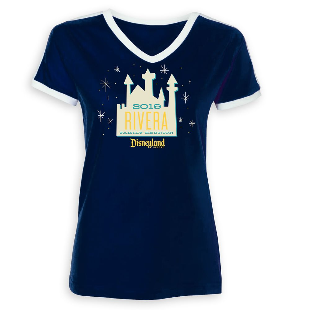 Women's Sleeping Beauty Castle Family Reunion Soccer T-Shirt  Disneyland Resort  2019  Customized