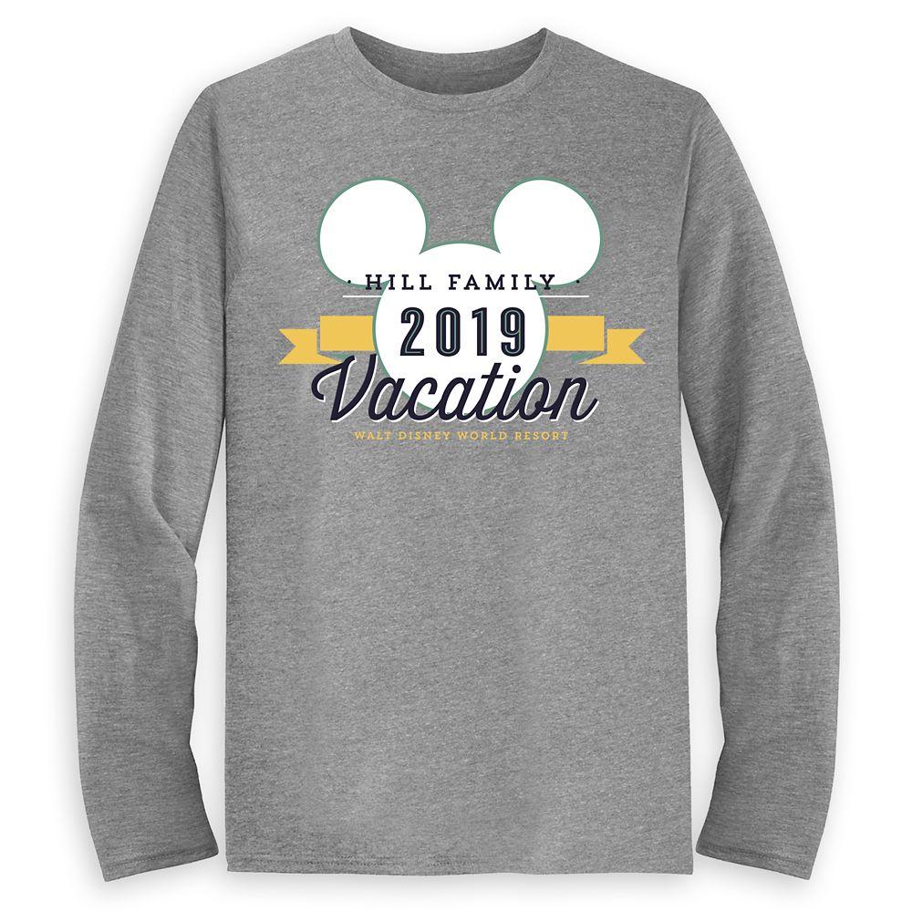 Men's Mickey Mouse Family Vacation Long Sleeve Shirt – Walt Disney World Resort – 2019 – Customized