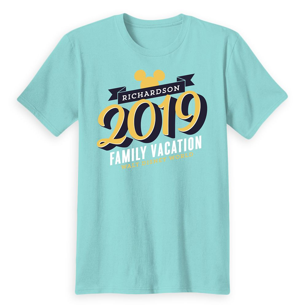 Adults' Mickey Mouse Family Vacation T-Shirt – Walt Disney World – 2019 – Customized