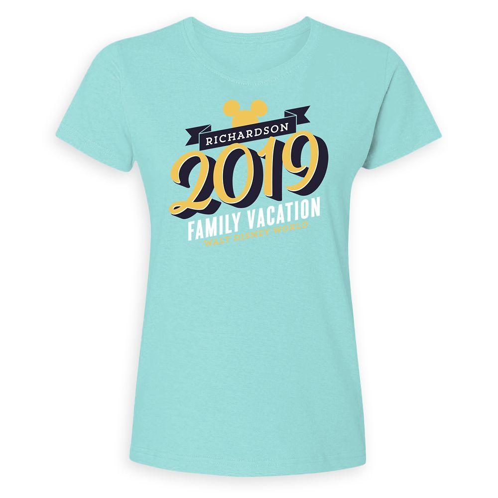 Women's Mickey Mouse Family Vacation T-Shirt  Walt Disney World  2019  Customized