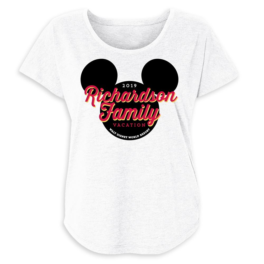 Women's Mickey Mouse Icon Walt Disney World 2019 Vacation T-Shirt  Customized