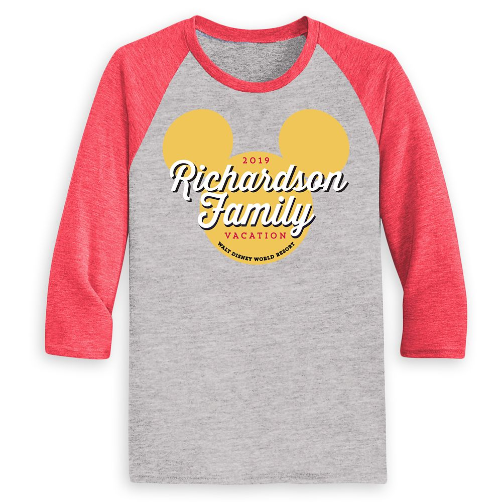 Men's Mickey Mouse Icon Walt Disney World 2019 Vacation Raglan T-Shirt – Customized