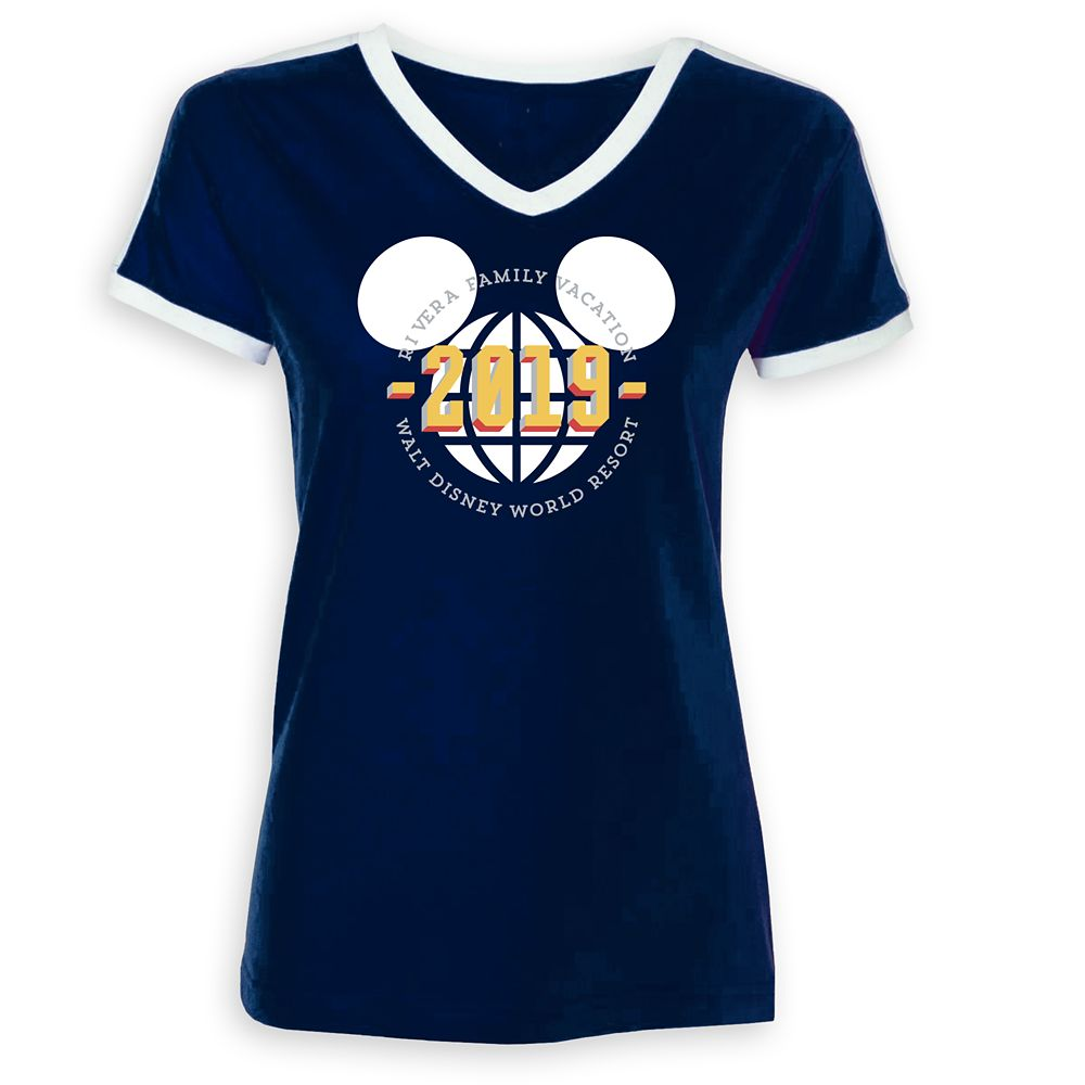 Women's Mickey Mouse Family Vacation Soccer T-Shirt  Walt Disney World Resort  2019  Customized