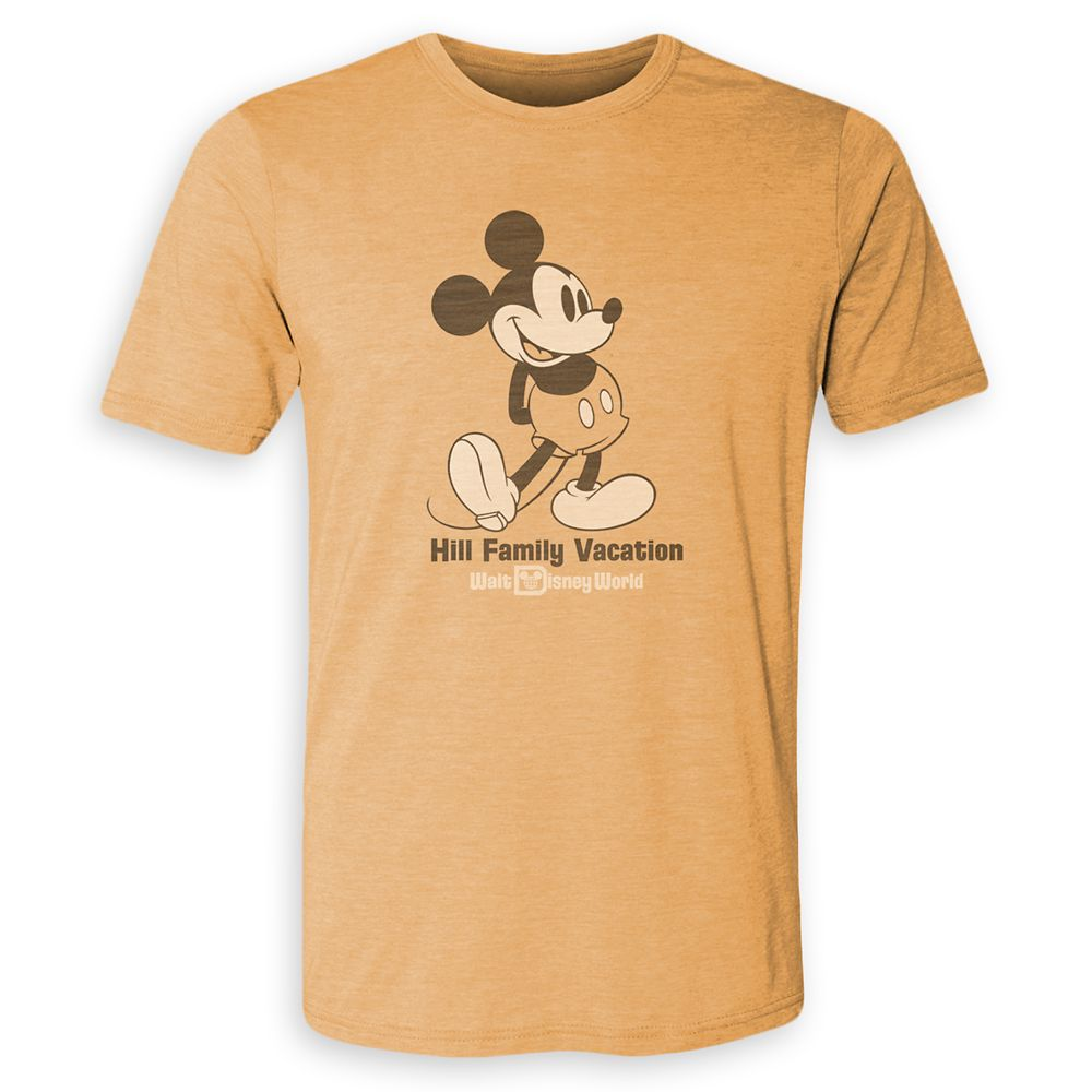 Adults' Mickey Mouse Family Vacation Heathered T-Shirt – Walt Disney World – Customized