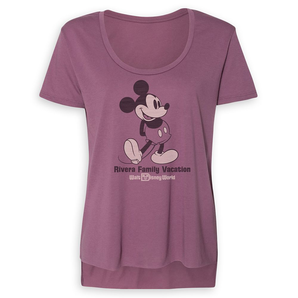Women's Mickey Mouse Family Vacation Scoop Neck T-Shirt – Walt Disney World – Customized