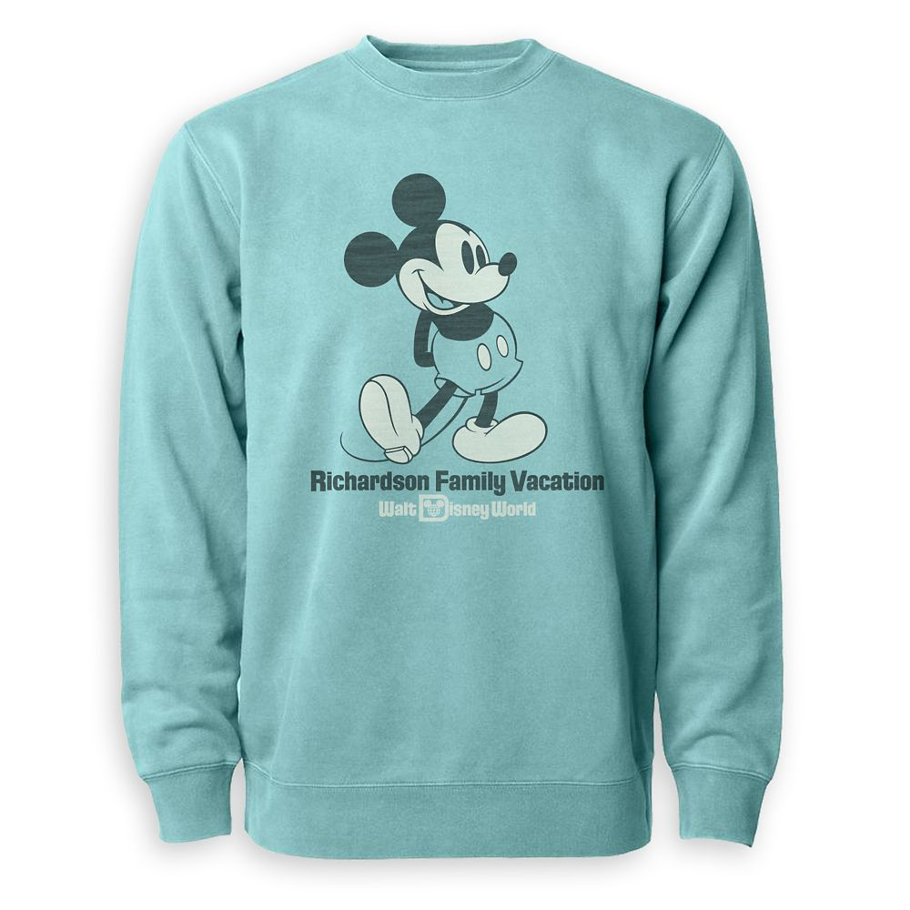 Adults' Mickey Mouse Family Vacation Pullover – Walt Disney World – Customized