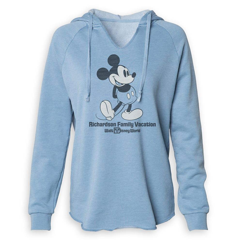 Women's Mickey Mouse Family Vacation V-Neck Pullover Hoodie – Walt Disney World – Customized
