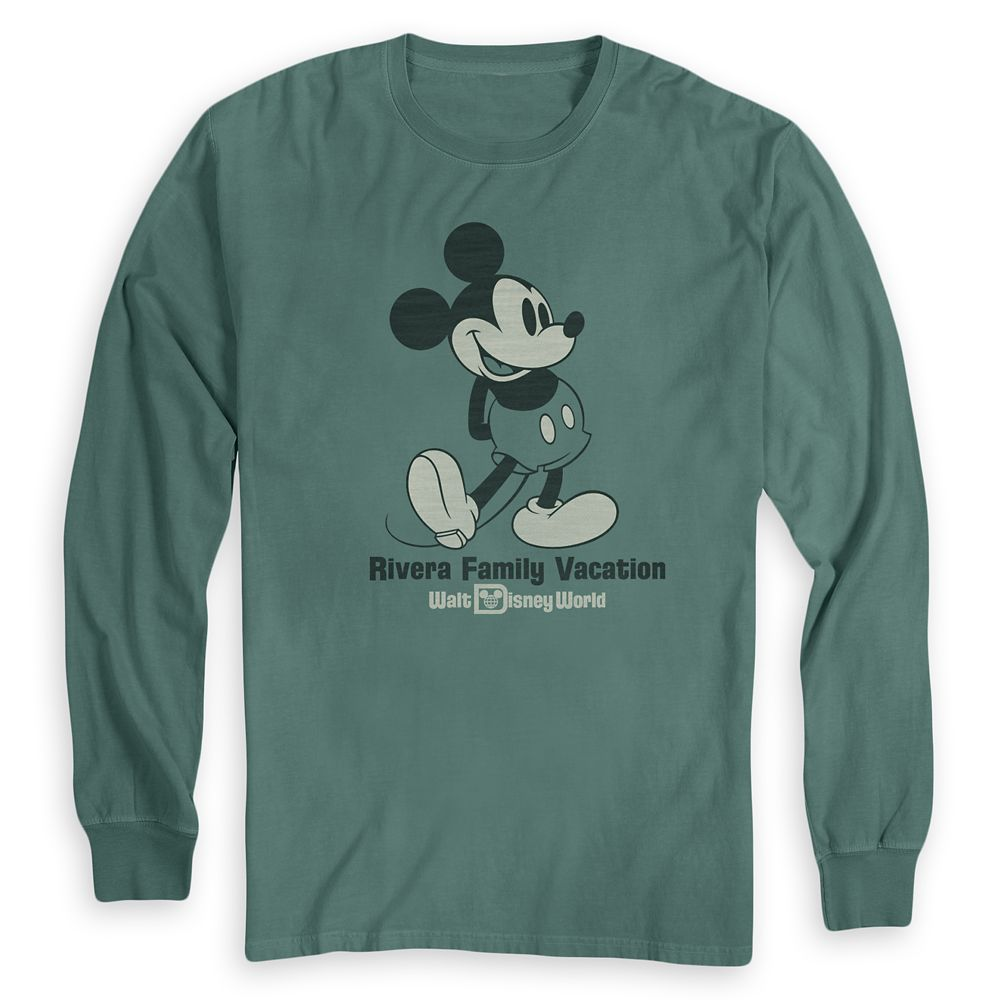 Adults' Mickey Mouse Family Vacation Long Sleeve T-Shirt  Walt Disney World  Customized