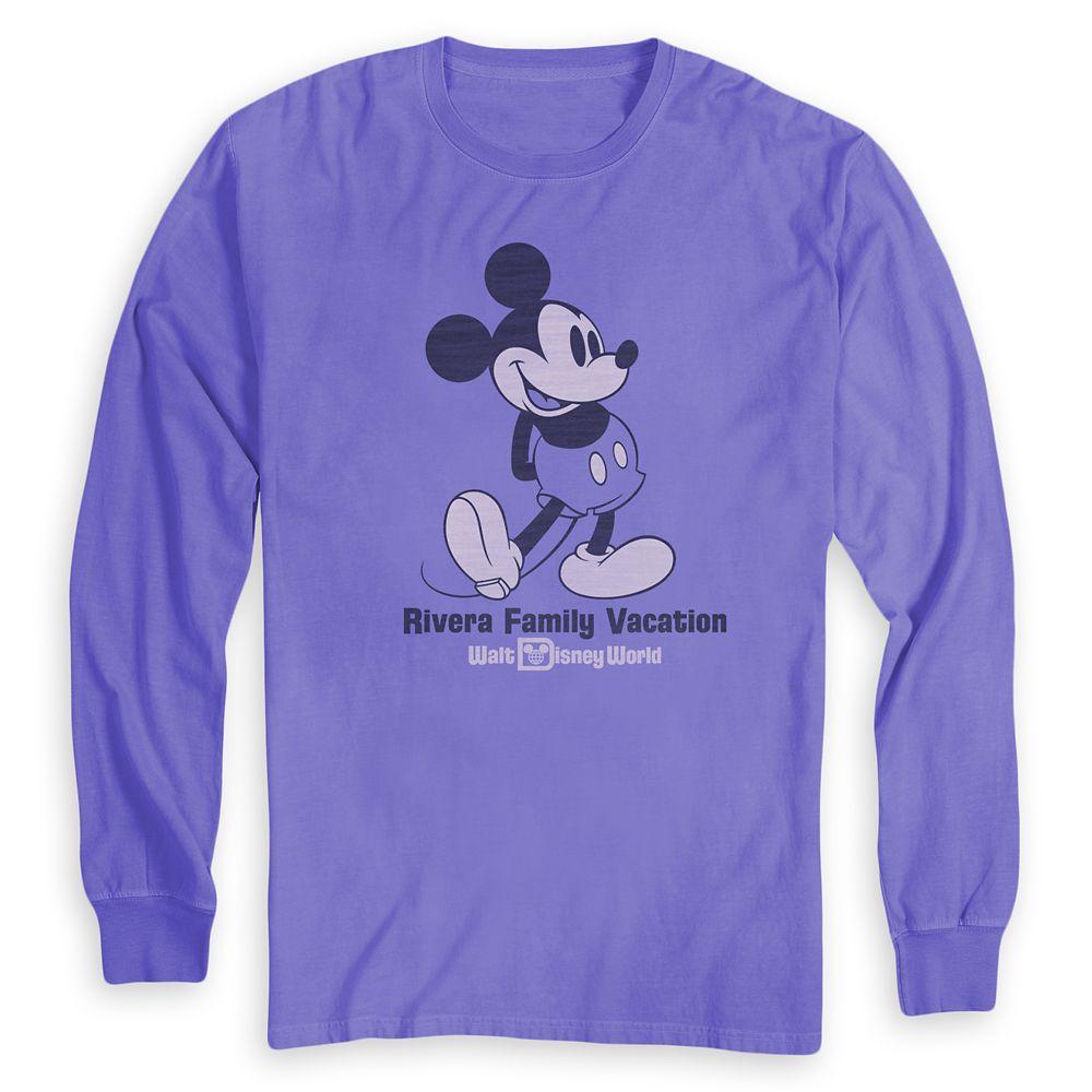 Adults' Mickey Mouse Family Vacation Long Sleeve T-Shirt – Walt Disney World – Customized