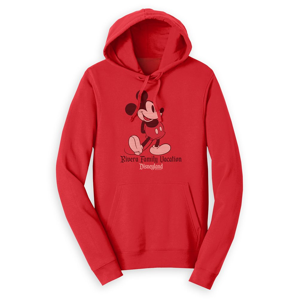 Adults' Mickey Mouse Family Vacation Pullover Hoodie – Disneyland – Customized