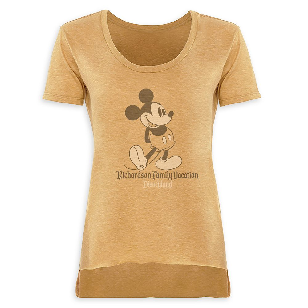 Women's Mickey Mouse Family Vacation Scoop Neck T-Shirt  Disneyland  Customized