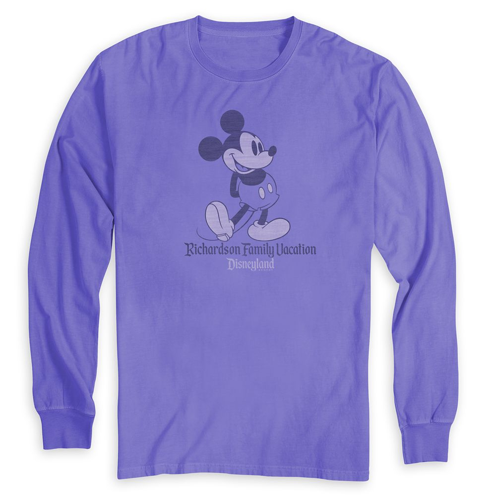 Adults' Mickey Mouse Family Vacation Long Sleeve T-Shirt  Disneyland  Customized