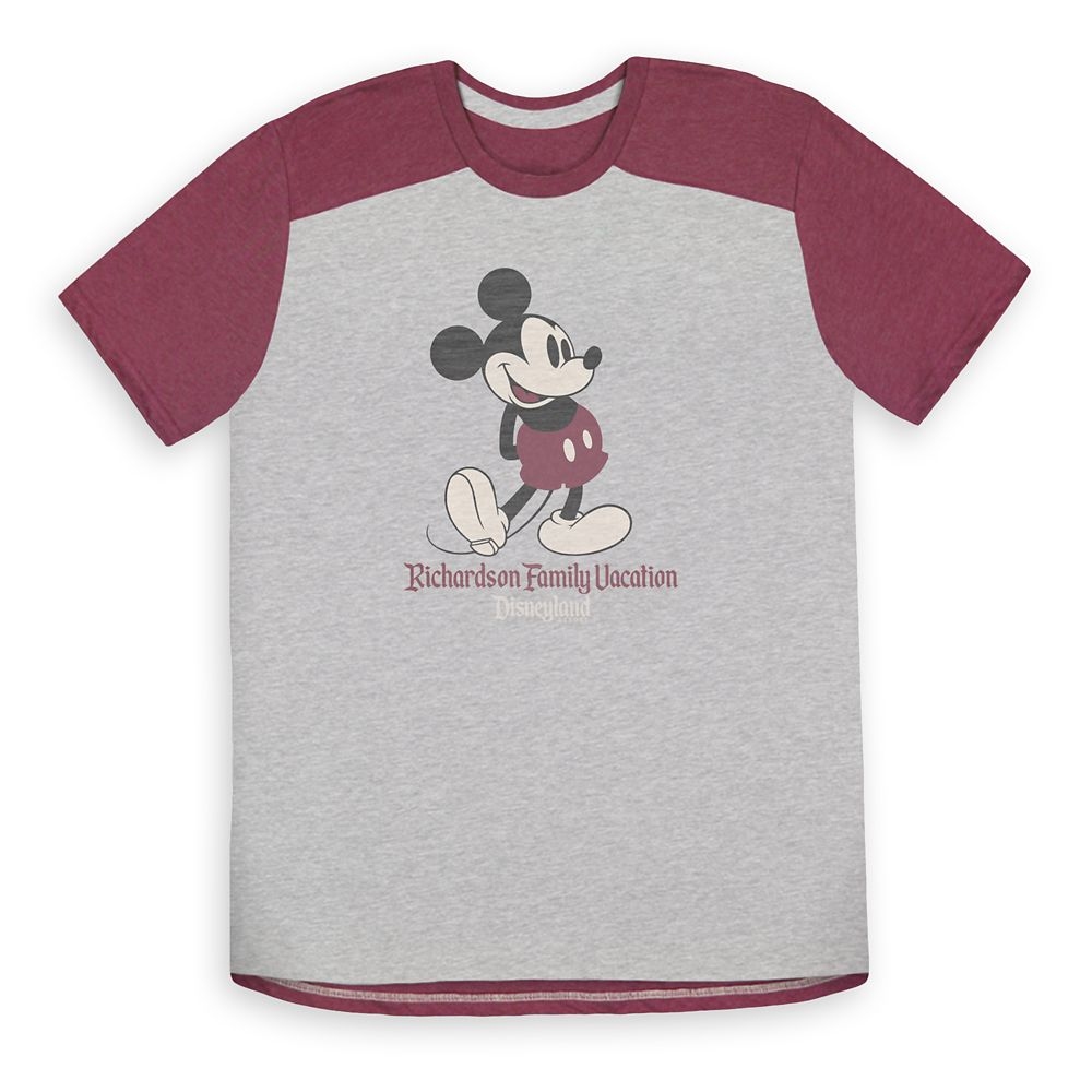 Adults' Mickey Mouse Family Vacation Athletic T-Shirt – Disneyland – Customized